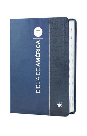 BIBLIA DE AMÉRICA MANUAL, AZUL FLEXIBLE