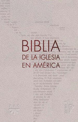 BIBLIA DE LA IGLESIA EN AMÉRICA, SEMIFLEXIBLE CON UÑEROS
