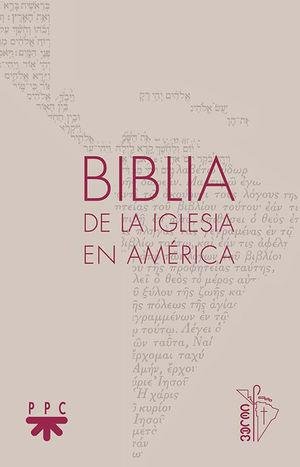 BIBLIA DE LA IGLESIA EN AMÉRICA, PLASTICO