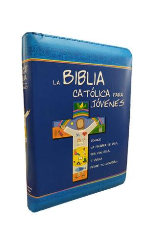 LA BIBLIA CATÓLICA PARA JÓVENES, JUNIOR (COLOR CURPIEL)