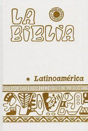 LA BIBLIA LATINOAMERICANA, LETRA GRANDE CON UÑEROS (BLANCA)