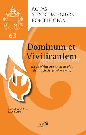 EL ESPÍRITU SANTO EN LA VIDA DE LA IGLESIA Y DEL MUNDO (63)