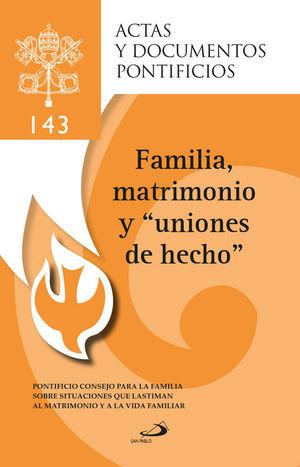 FAMILIA, MATRIMONIO Y